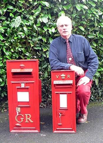 Fred Nickson with two post boxes