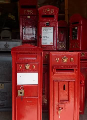Old post boxes in stock at Chiltern Antiques